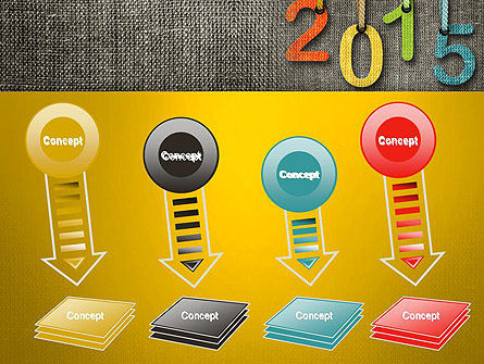 Happy New Year 2015 PowerPoint Template Slide 8