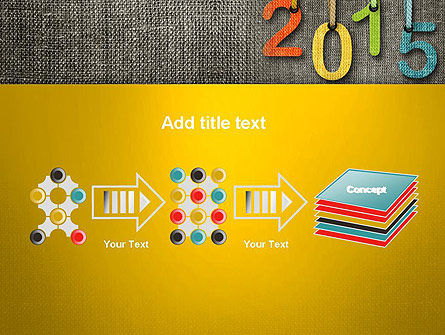 Happy New Year 2015 PowerPoint Template Slide 9