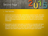 Happy New Year 2015 PowerPoint Template#2