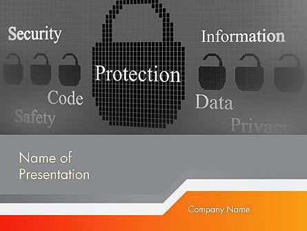 Technology and Science: Data Security and Protection PowerPoint Template #12669