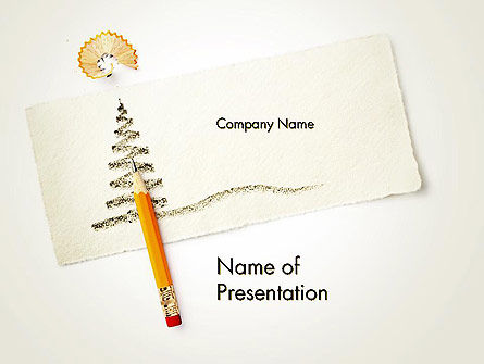 Holiday/Special Occasion: Christmas Tree Sketch PowerPoint Template #12670