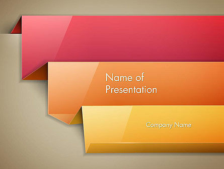 Abstract Colored Steps PowerPoint Template