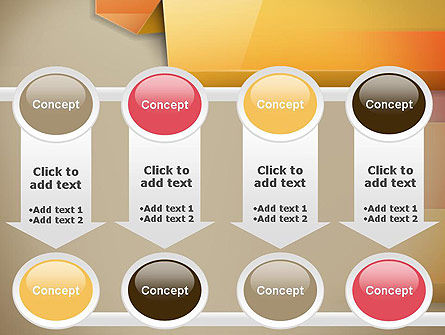 Abstract Colored Steps PowerPoint Template Slide 18