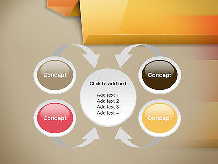 Abstract Colored Steps PowerPoint Template Slide 6