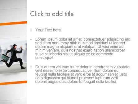 Rushing Businessman PowerPoint Template, Slide 3, 12672, Business Concepts — PoweredTemplate.com