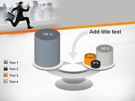 Rushing Businessman PowerPoint Template Slide 10