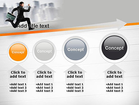 Rushing Businessman PowerPoint Template Slide 13