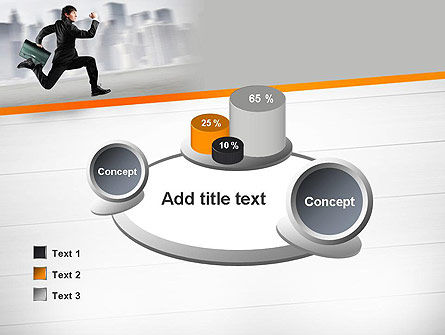 Rushing Businessman PowerPoint Template Slide 16