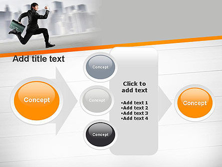 Rushing Businessman PowerPoint Template Slide 17