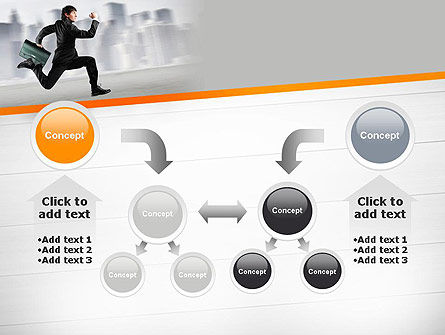Rushing Businessman PowerPoint Template Slide 19