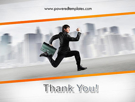 Rushing Businessman PowerPoint Template Slide 20