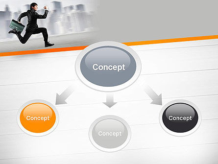 Rushing Businessman PowerPoint Template Slide 4