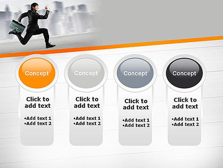 Rushing Businessman PowerPoint Template Slide 5