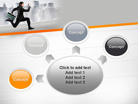 Rushing Businessman PowerPoint Template Slide 7