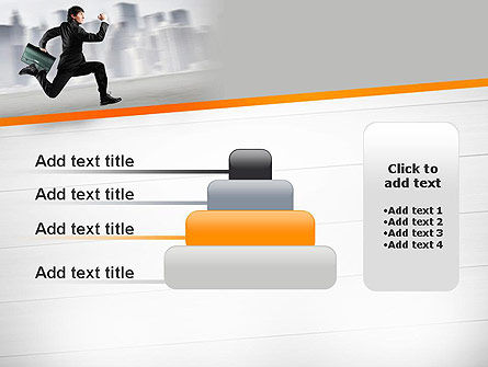 Rushing Businessman PowerPoint Template Slide 8
