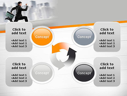 Rushing Businessman PowerPoint Template Slide 9