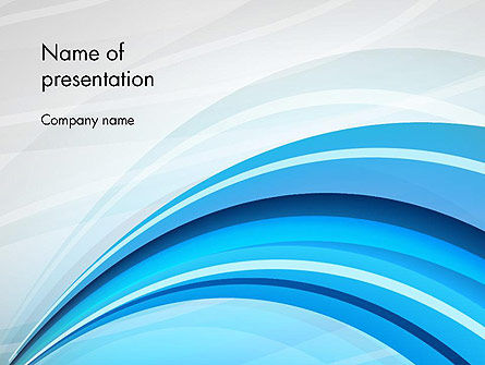 Abstract Blue Arcs PowerPoint Template, 12673, Abstract/Textures — PoweredTemplate.com
