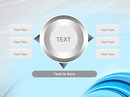Abstract Blue Arcs PowerPoint Template Slide 12