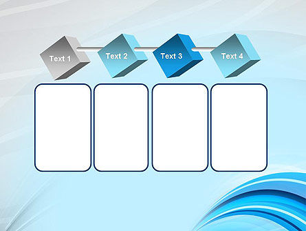 Abstract Blue Arcs PowerPoint Template Slide 18