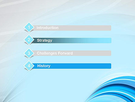 Abstract Blue Arcs PowerPoint Template Slide 3