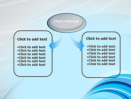Abstract Blue Arcs PowerPoint Template Slide 4