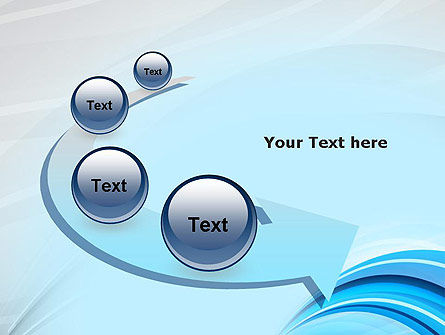 Abstract Blue Arcs PowerPoint Template Slide 6