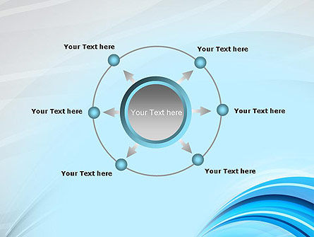 Abstract Blue Arcs PowerPoint Template Slide 7