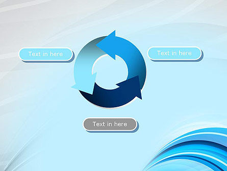 Abstract Blue Arcs PowerPoint Template Slide 9