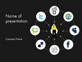 Careers/Industry: Social Media Optimization PowerPoint Template #12676