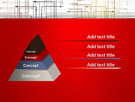 Thin Multidrectional Intersecting Arrows PowerPoint Template Slide 12