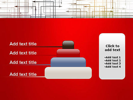 Thin Multidrectional Intersecting Arrows PowerPoint Template Slide 8