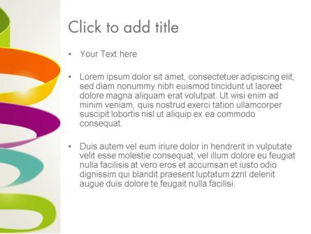Color Ribbons on White PowerPoint Template, Slide 3, 12678, Abstract/Textures — PoweredTemplate.com