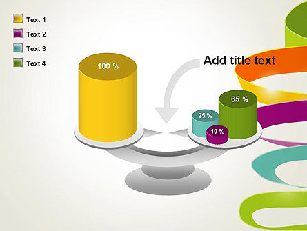 Color Ribbons on White PowerPoint Template Slide 10