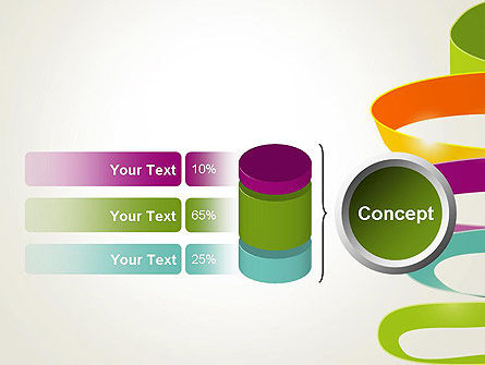 Color Ribbons on White PowerPoint Template Slide 11