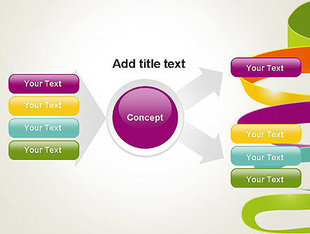 Color Ribbons on White PowerPoint Template Slide 14