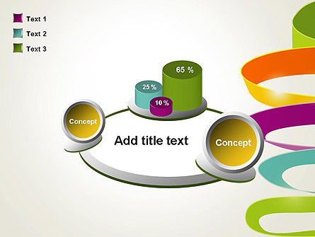 Color Ribbons on White PowerPoint Template Slide 16