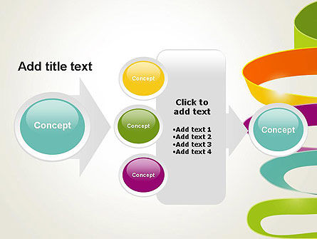 Color Ribbons on White PowerPoint Template Slide 17
