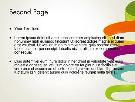 Color Ribbons on White PowerPoint Template Slide 2