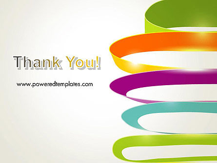 Color Ribbons on White PowerPoint Template Slide 20
