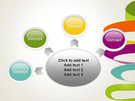 Color Ribbons on White PowerPoint Template Slide 7