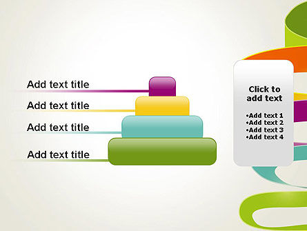Color Ribbons on White PowerPoint Template Slide 8