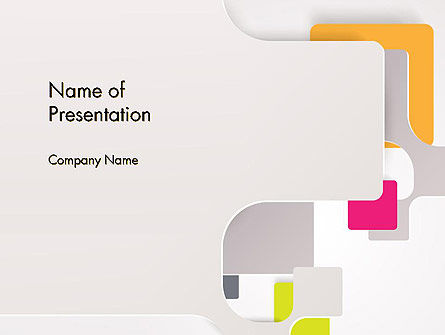 Abstract Application of Paper PowerPoint Template