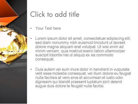 Wireframe Globe PowerPoint Template, Slide 3, 12682, Global — PoweredTemplate.com