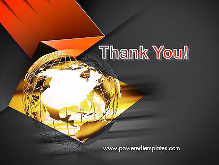 Wireframe Globe PowerPoint Template Slide 20