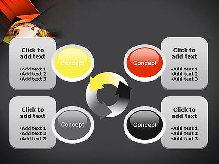Wireframe Globe PowerPoint Template Slide 9