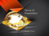 Global: Wireframe Globe PowerPoint Template #12682