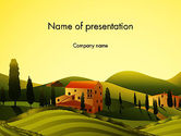 Agriculture: Valley Village PowerPoint Template #12683
