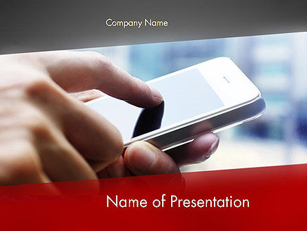 Mobile Events Schedule PowerPoint Template, 12684, Technology and Science — PoweredTemplate.com