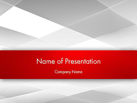 Gray Squares with Perspective PowerPoint Template