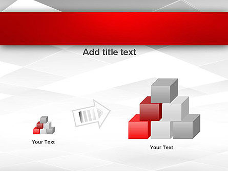 Gray Squares with Perspective PowerPoint Template Slide 13